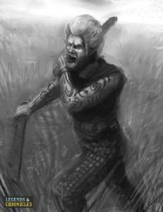 Celtic Warrior going into Battle