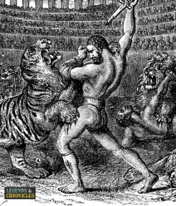 Gladiator Warrior Fighting the Big Cats