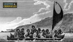 Hawaiian Warriors on a Boat