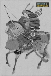 Japanese Samurai Warrior on Horseback