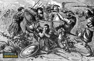 Persian Warriors in Battle